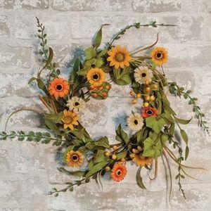 """Other - Warm Daisy Garden 12"""" Wreath"""